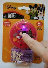Disney Safety Lights with ( Halloween) candy Includes lanyard & Clip Age 3+