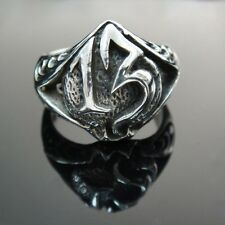 Stamped 925 Solid Sterling Silver Number 13 Lucky Poker King Winner Ring SR07