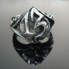 925 Sterling Silver Number 13 13th Ring For Harley Motor 1% er Outlaw Biker SR07