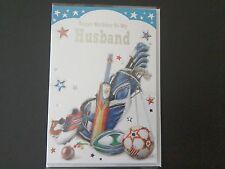 HUSBAND BIRTHDAY SPORTS THEMED CARD