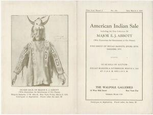 1925 Illustrated Brochure - American Indian Art Collection of Major E.J. Abbott
