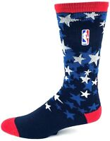 NBA All Star NBA Veteran's Day Crew 308S Socks OlympicTeam USA Stars Blue