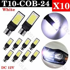 10x T10 CAR BULBS LED ERROR FREE CANBUS 24 SMD COB