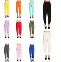 Damen Harem Hose Pumphose Pluderhose Ballonhose Viskose Yoga M L XL XXL Sport