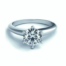 Solitaire Natural White Gold I1 Fine Diamond Rings