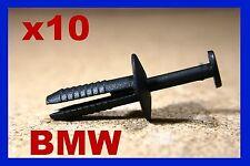 10 BMW wheel arch mudguard nud splash guard flap fastener clip push type