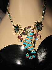 BETSEY JOHNSON  BETSEY AND THE SEA SEAHORSE NECKLACE