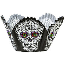 Day of the Dead Skull Halloween Petal Baking Cup 24 ct from Wilton #3184 - NEW