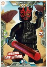 Lego Star Wars Series 2 Trading Cards Card No. 79 Common Darth Maul