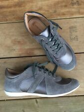 Corso Como Womens Silver Metallic Leather Lace Up Ankle Flat Boots Sz 6.5 Italy