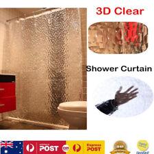 1.8M*2M Waterproof Shower Curtain Liner EVA Bathroom Curtains Divider W/ Hooks