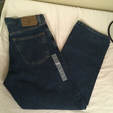 Eddie Bauer Mens 100% Cotton Blue Jeans 33W 30L Relaxed Stonewashed NWT FS!