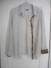 IKKS, blouse,bluse, shirt,hemd,chemise  taille 38, coton 100%