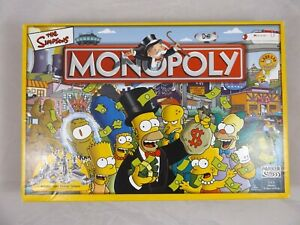 Monopoly The Simpsons - Hasbro Parker Board Game 2003 - 100% Complete