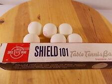 VTG SHIELD 101 TABLE TENNIS BALLS- MADE IN SHANGHAI CHINA PING PONG