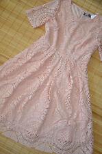 HALLHUBER wunderschönes Kleid Gr. 38 UK 10 neu Häkelspitze Hellpuder