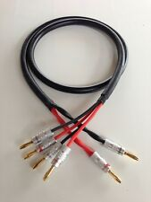 4FT Canare Star Quad 4S11 Bi-Wire Speaker Cable 2 to 4 Nakamichi Banana Plugs