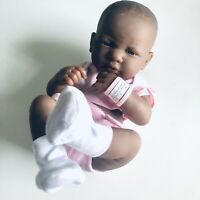 Berenguer La Newborn Realistic African American Baby Doll Pink Clothing