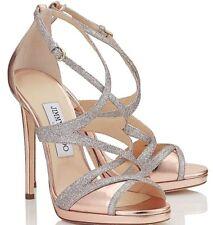 Jimmy Choo Marianne rose gold high heel sandals eur 37.5 us 7 $875