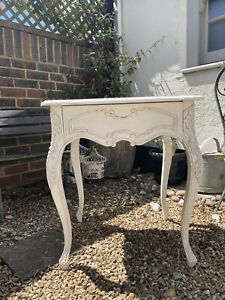 French bedside table, antique style white
