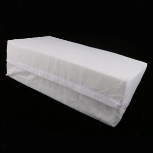 White Bed Wedge Pillow Memory Foam Top Form - Best for Sleeping, Post Surgery,