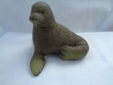 Brown Rubber Seal Sitting Figure