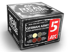 AK Interactive #AKI-RCS005 Real Colors: German WWII Interiors Paint Set