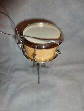 """SNARE DRUM MUSICAL INSTRUMENT ORNAMENT WITH STAND 3.5"""" HIGH BAND INSTRUMENT"""