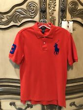 POLO RALPH LAUREN Big Pony Orange Collared Polo Short Sleeve Shirt Mens XL