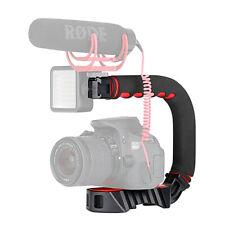 C/U shape Bracket Handle Stabilizer Grip Holder for Canon Nikon Sony DSLR Camera