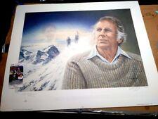 "Edmund Hillary Mount Everest Signed Serigraph 25"" x 31"" Print JSA COA  #rd /1953"