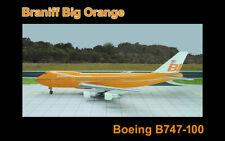 Jet-X JX058 Braniff International 1/400  Boeing 747-100 Big Orange Airliner LTD