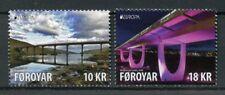 Faroes Faroe Islands 2018 Mnh Bridges Europa Bridge 2v Set Architecture Stamps