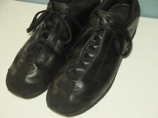ISSEY MIYAKE MEN LEATHER SNEAKER SHOES M (about 26cm US8) Unisex Size Black