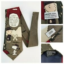 VTG Peanuts Snoopy 1958 United Feature Syndicate, Inc Golf Theme Neck Tie  2SP06