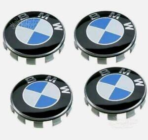 Set 4 TAPPI Coprimozzo COMPATIBILE BMW 56mm Serie 1 2 3 5 6 7 M Z X Fregi Cerchi