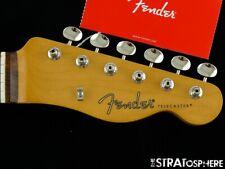 """Fender Noventa Telecaster Tele NECK &TUNERS 9.5"""" Radius """"C"""" Guitar Pau Ferro"""