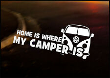 HOME IS WHERE Car Decal Sticker VW Camper Bus Transporter Aircooled T1 T25 T4 T5