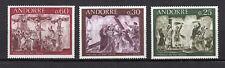 Andorre Français 1968 Y&T N°191 à 193 3 timbres neufs sans charnière /T3721