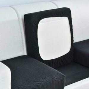 Jacquard Thick Sofa Cushion Cover Polar Fleece Stretch Cover Washable Slipcover