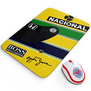 Ayrton Senna Mouse Mat Garage Car Motor Racing Retro Work Pad Gift OC21
