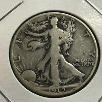 1919-S SILVER WALKING LIBERTY HALF DOLLAR SCARCE DATE COIN
