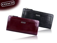 Coach Darcy Saffiano Patent Leather Slim Zippy Wallet 50438