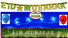 EID Mubarak Decoration 13 PCS Lights Blue-Banners-Balloons Islamic Gifts Ramadan