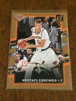2017-18 Donruss Basketball Base Card - Kristaps Porzingis - New York Knicks