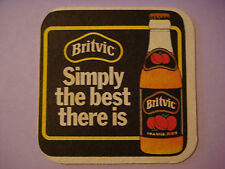 British Beer COASTER Bar Mat <^^> BRITVIC Orange Fruit Juice ~*~ Simply the Best