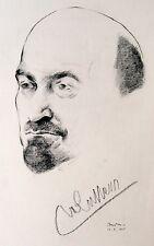 1925 Israel SIGNED Lithograph BUDKO - WEIZMANN Bezalel JEWISH ART Judaica HEBREW