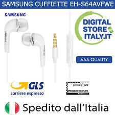 Cuffie Auricolari + Mic Originale Galaxy S3 S4 S5 S6 S7 S8 EDGE SAMSUNG NUOVI