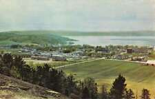 Temiscamingue Quebec Ville Marie Birdseye View Vintage Postcard K42988