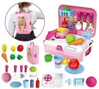 CHILDRENS KIDS KITCHEN COOKING ROLE PLAY PRETEND TOY COOKER GAME SET WITH SOUND